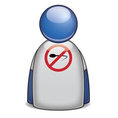 Icono camiseta señal sexo seguro