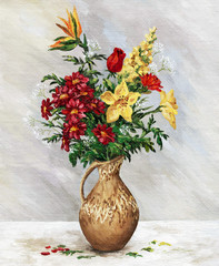 Bouquet in jug