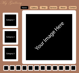 Web Template for the Visual Arts