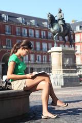 Madrid tourist woman