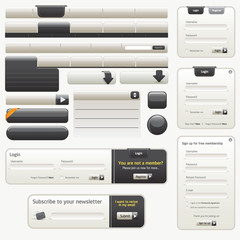 Vector Black Website Design Elements