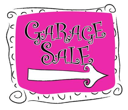 Garage Sale sign right