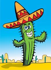 Poster de jardin Doux monstres Mexican cactus