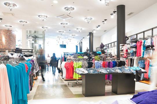 modern clothes shop