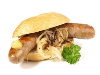 Bratwurst mit Zwiebeln