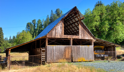 Old Barn in California