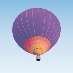 Hot air balloon illustration on blue background