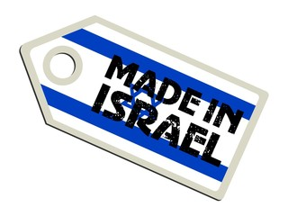 vector label Made in Israel
