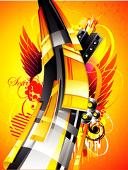 abstract 3d vector illustration
