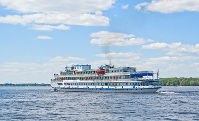 Ship on the Volga