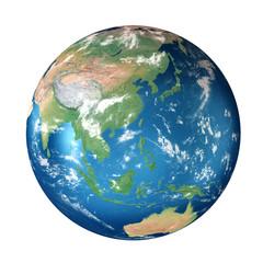 Obraz Planet Earth: Asia, Australia - fototapety do salonu