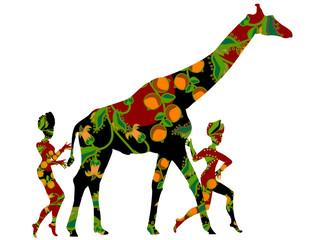 Canvas Prints Geometric animals way of life