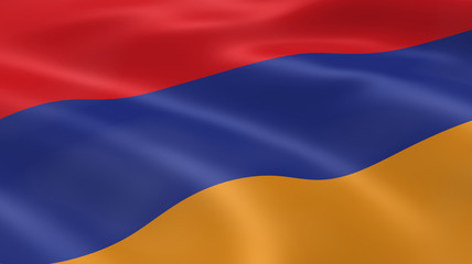 Armenian flag in the wind