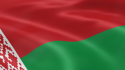 Belarusian flag in the wind