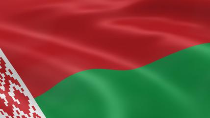 Belarusian flag in the wind