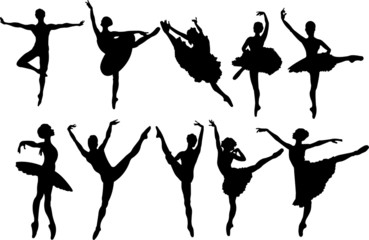 Canvas Prints Fairytale World Ballet dancers silhouettes