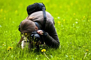 Woman taking photos