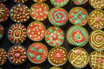 Delicious colorful sweets