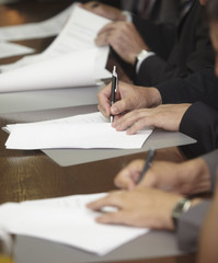 signature contract signing business office