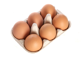 Half dozen fresh eggs cutout