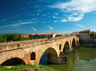 Old bridge in Navarra