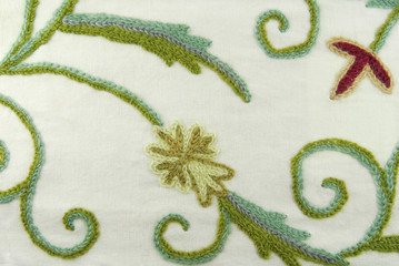 fabric texture with fowers