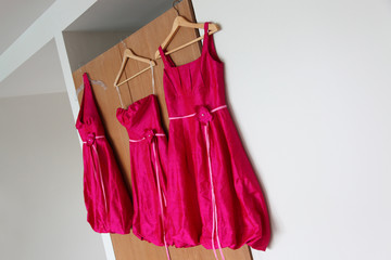 Bridesmaid dresses.