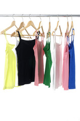 bright colored colorful peignoir hanging