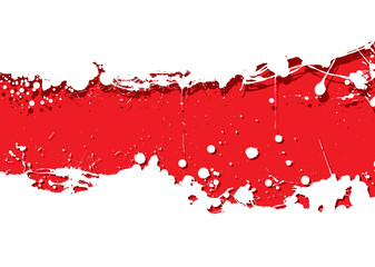 grunge strip background red splat