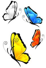 Bunte Schmetterlinge (mit Clippfad)