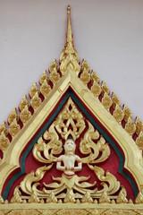art on wall of temple, Wat Tarae, Mahasarakam