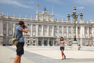 Madrid - Royal Palace tourists