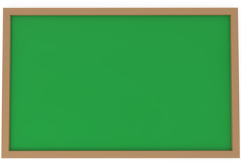 Blank green chalkboard isolated on white