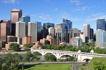 Wall Murals Place of worship Calgary Skyline
