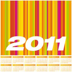 Colorful Calendar 2011.