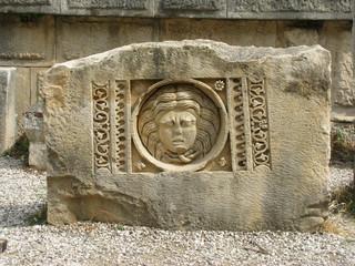 Ancient theater ruins in Myra, Turkey