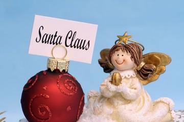 Weihnachtsengel mit Sitzkarte