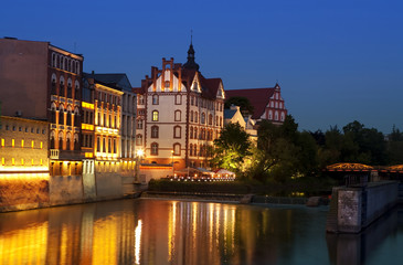 Opole at night, Poland