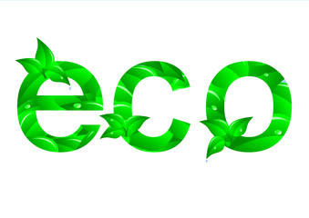 Green ecology concept. Vector.
