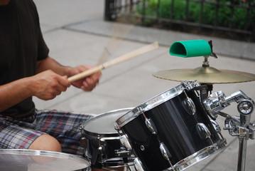 Drummer Hitting the Beat