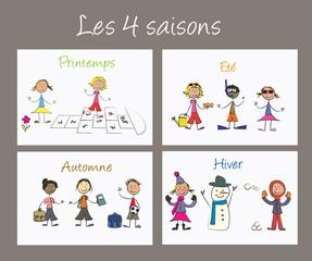 Enfants 4 saisons gris francais