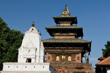 Temples at Durbar Sqaure in Kathmandu, Nepal