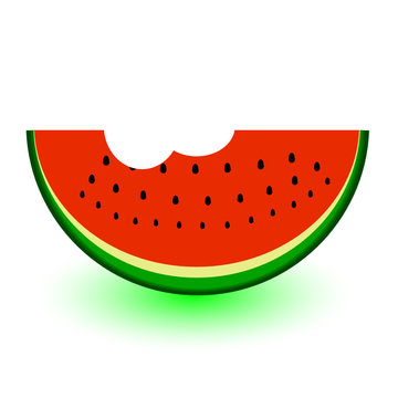 watermelon a bit vector illustration