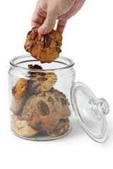 Hand in Glass Cookie Jar