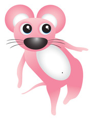 Dancing pink mouse