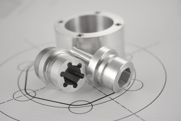 Fototapeta CNC Wałek Frezowanie Toczenie Produkcja obraz