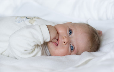 Little Baby Girl With Blue Eyes
