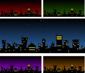 Vector City Silhouette Backgrounds