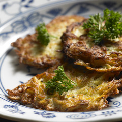 potato cakes with cabbage