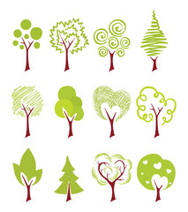 abstract icon trees